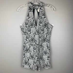 Anthropologie pins and needles gray romper